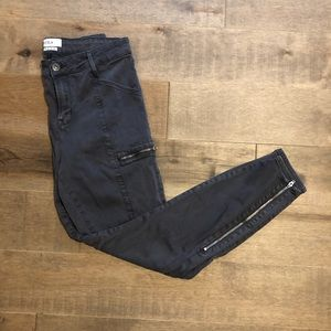 Pistola stretch ankle zip mid rise jeans